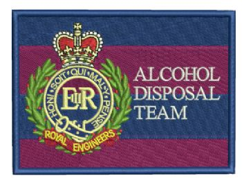 Alcohol Disposal Team Embroidered Badge